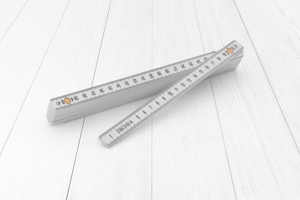 Zollstock 2m Kunststoff weiß