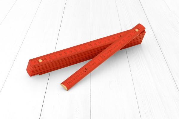 Zollstock 2m Holz rot